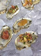 Raw Oyster with Tomato Mignonette, Michael Dunn, Yankee Pier Santana Row