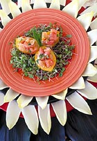 Lomi Salmon in Yellow Tomato Cup, Mary Pagan, The Culinary Center of Monterey