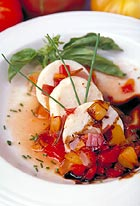 Scallop Lobster Mousse with Heirloom Tomato Salsa, A. Scott Cater, Casablanca