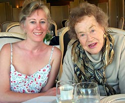 Dagma Lacey & Julia Child at Lunch