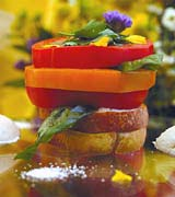 Tomato & Tuscan Bread Tower