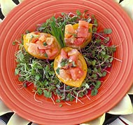 Lomi Salmon in Yellow Tomato Cup